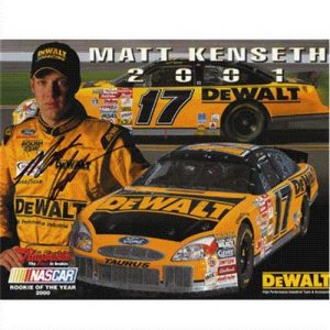 Matt Kenseth Autographed Dewalt (Pose) 8x10 Photo