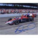 Danica Patrick Autographed Argent (Indy 500 Lead) 8×10 Photo