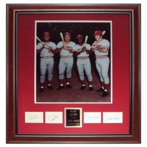 Cincinnati Reds Big Red Machine (Tony Perez, Johnny Bench , Joe Morgan , Pete Rose) Deluxe Framed Piece