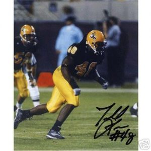 Terrell Suggs Autographed Arizona State Sun Devils (Maroon Jersey) 8x10 Photo
