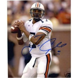 Jason Campbell Autographed Auburn Tigers (White Jersey) 8x10 Photo