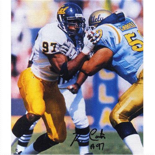 Andre Carter Autographed Cal Bears 8x10 Photo