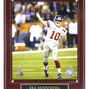 Eli Manning New York Giants (SB XLVI Action) Licensed 8x10 Photo Plaque