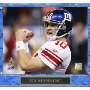 Eli Manning New York Giants (SB XLVI Fist Pump) Licensed 8x10 Photo Plaque