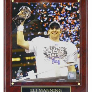 Eli Manning New York Giants (SB XLVI with Trophy) Licensed 8x10 Photo Plaque