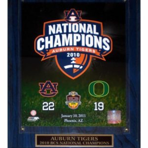 Auburn Tigers (2010 BCS National Champs) Licensed 8x10 Photo Plaque