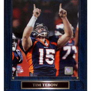 Tim Tebow Denver Broncos (AFC Wildcard) Licensed 8x10 Photo Plaque