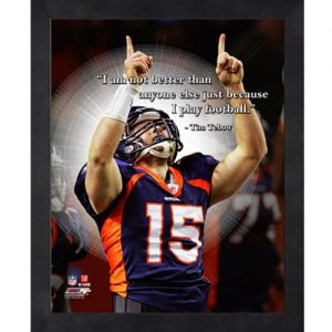 Tim Tebow Denver Broncos (Pointing) Framed Pro Quote #1