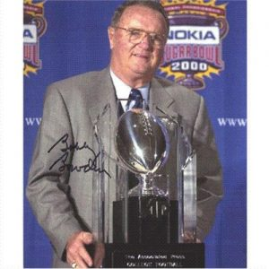Bobby Bowden Autographed Florida State FSU Seminoles (w/ Trophy) 8x10 Photo