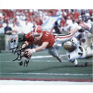 David Greene Autographed Georgia Bulldogs (TD Dive) 8x10 Photo