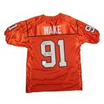 Cameron Wake Autographed BC Lions (CFL Orange #91) Custom Stitched Jersey – Wake Holo