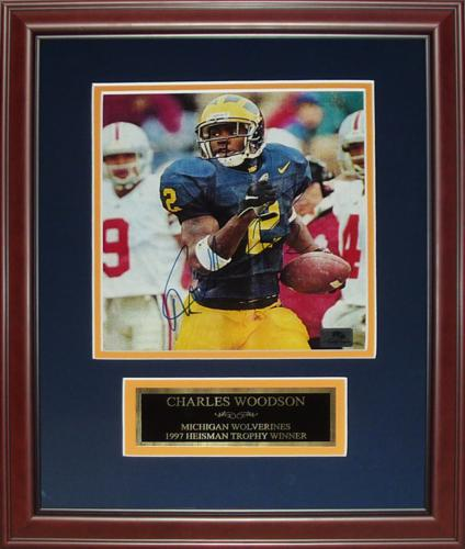 sale retailer 3ccc9 cb776 Charles Woodson Autographed Michigan Wolverines 8x10 Photo ...