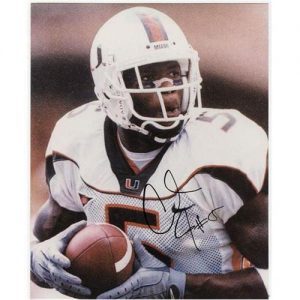 Andre Johnson Autographed Miami Hurricanes (White Jersey) 8x10 Photo