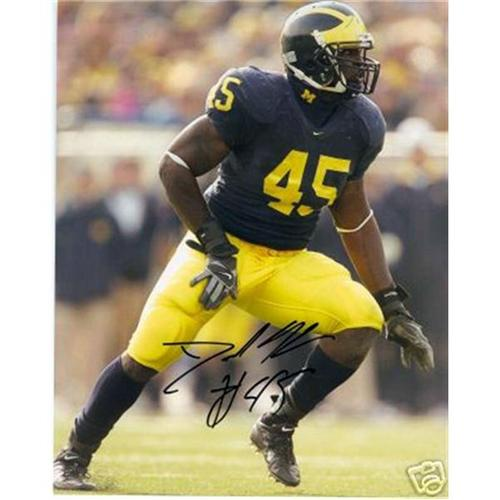 David Harris Autographed Michigan Wolverines 8x10 Photo