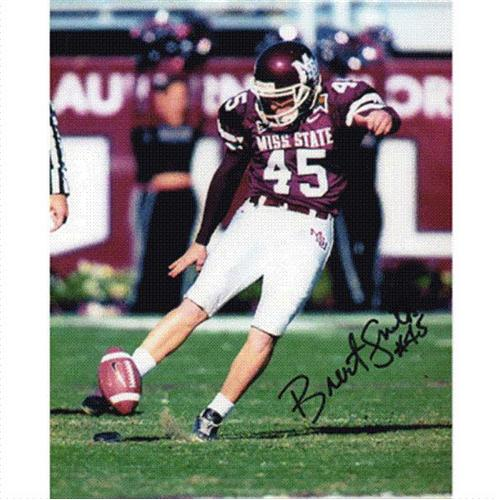 Brent Smith Autographed Mississippi State Bulldogs 8x10 Photo