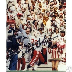 Johnny Rodgers  Autographed Nebraska Huskers (TD Run) 8x10 Photo