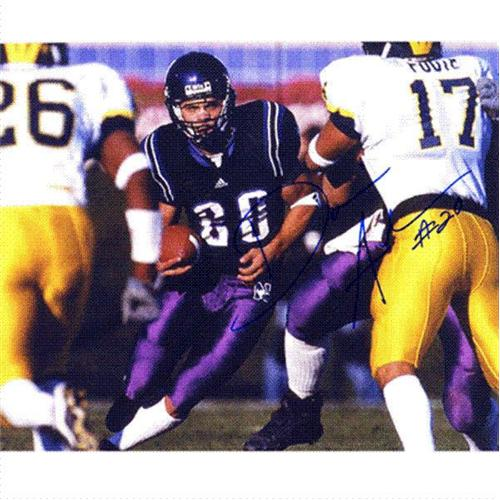Damien Anderson Autographed Northwestern Wildcats 8x10 Photo