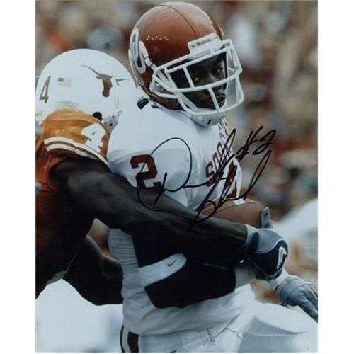 Derrick Strait Autographed Oklahoma Sooners (vs Texas) 8x10 Photo