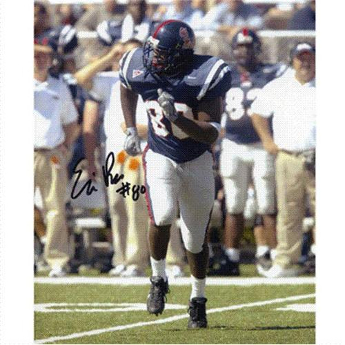 Eric Rice Autographed Ole Miss Rebels 8x10 Photo