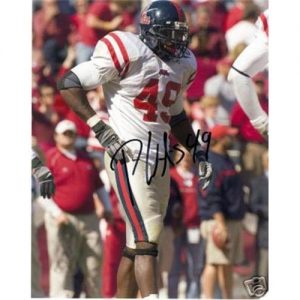 Patrick Willis Autographed Ole Miss Rebels 8x10 Photo