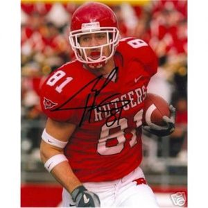 Clark Harris Autographed Rutgers Scarlet Knights 8x10 Photo
