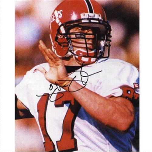 Mike McMahon Autographed Rutgers Scarlet Knights (White Jersey) 8×10 Photo