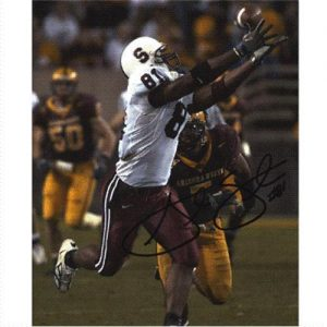 Alex Smith Autographed Stanford Cardinal (White Jersey) 8x10 Photo