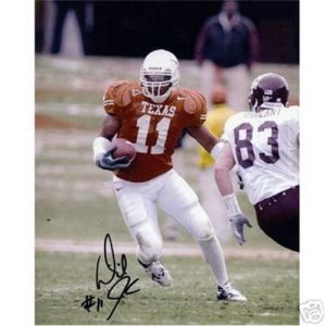 Derrick Johnson Autographed Texas Longhorns (Orange Jersey) 8x10 Photo