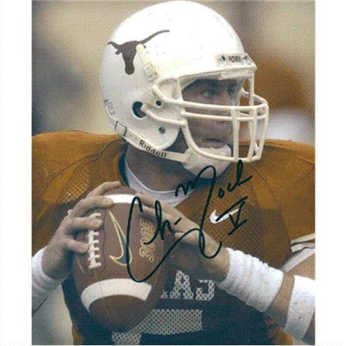 Chance Mock Autographed Texas Longhorns 8x10 Photo