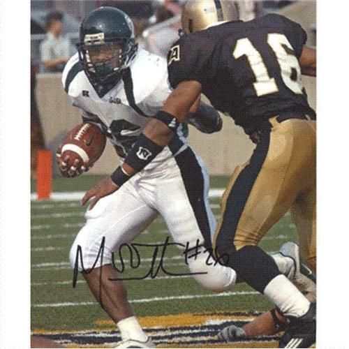 Mewelde Moore Autographed Tulane Green Wave 8x10 Photo