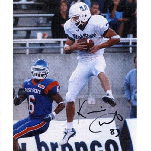 Kevin Curtis Autographed Utah State Aggies 8x10 Photo