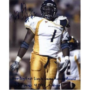 Kay Jay Harris Autographed West Virginia Mountaineers 8x10 Photo w/ Inscriptions