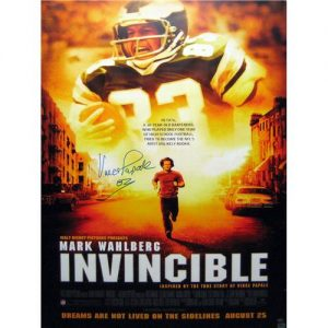 "Vince Papale Autographed ""Invincible"" Philadelphia Eagles Full-Size Movie Poster"