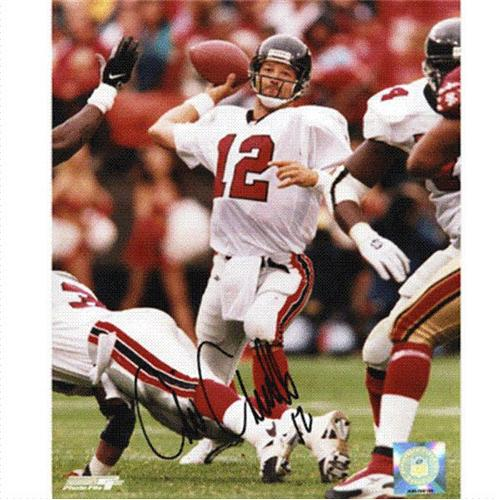 Chris Chandler Autographed Atlanta Falcons (Throwing) 8x10 Photo