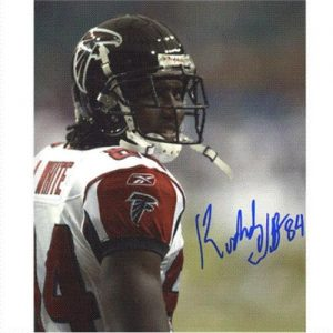 Roddy White Autographed Atlanta Falcons 8x10 Photo
