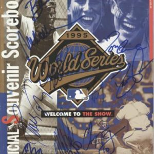 1995 Atlanta Braves World Series Team Autographed World Series Official Program - 11 Signatures