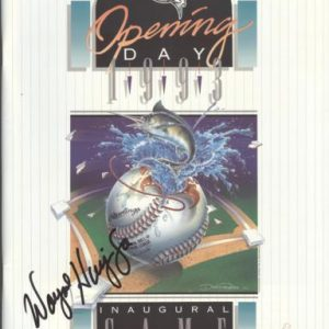 Wayne Huizenga (Owner) Autographed Florida Marlins 1993 Opening Day Inaugural Game Program