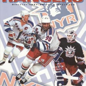New York Rangers 1997-98 Official Team Yearbook - 13 Signtures - Brian Leetch , Mark Richter