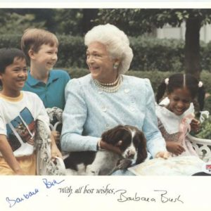 Barbara Bush Autographed White House 8x10 Photo - PSADNA