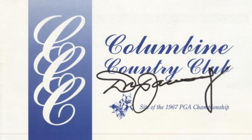 Don January Autographed Columbine Country Club Golf Scorecard - 1967 PGA Championship