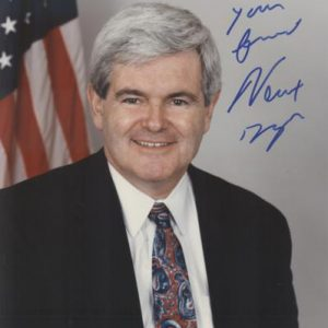Newt Gingrich Autographed Political 8x10 Photo
