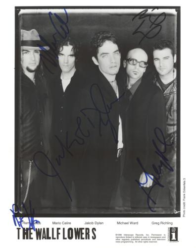 Jakob Dylan And The Wallflowers Autographed Band 8×10 Photo