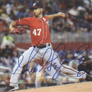Gio Gonzalez Autographed Washington Nationals (Red Jersey) 8x10 Photo