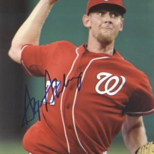 Stephen Strasburg Autographed Washington Nationals (Red Jersey) 8x10 Photo