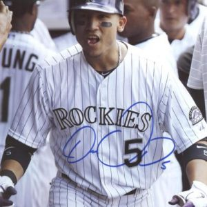 Carlos Gonzalez Autographed Colorado Rockies (Celebrating) 8x10 Photo