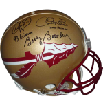 Bobby Bowden, Charlie Ward And Chris Weinke Autographed FSU Florida State Seminoles Authentic Proline Helmet w/ Inscrs