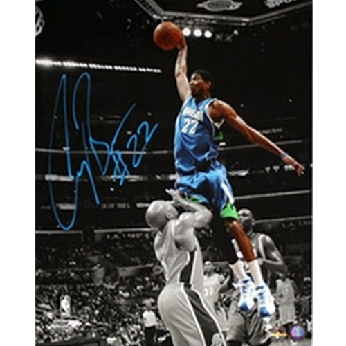 Corey Brewer Autographed Minnesota Timberwolves (Spotlight Dunk vs Fisher) 16x20 Photo
