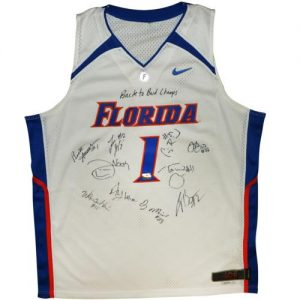 2006-07 Florida Gators Team Autographed Florida Gators (White #1) Jersey