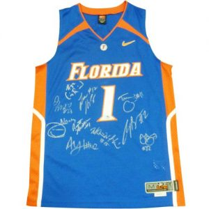 2006-07 Florida Gators Team Autographed Florida Gators (Blue #1) Jersey