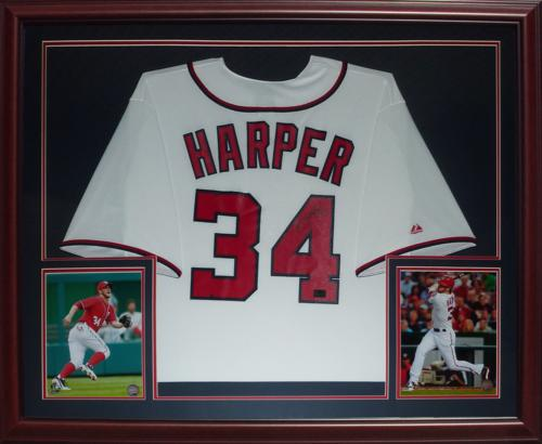 Bryce Harper Autographed Washington Nationals (White  34) Deluxe ... a5fd42b5f